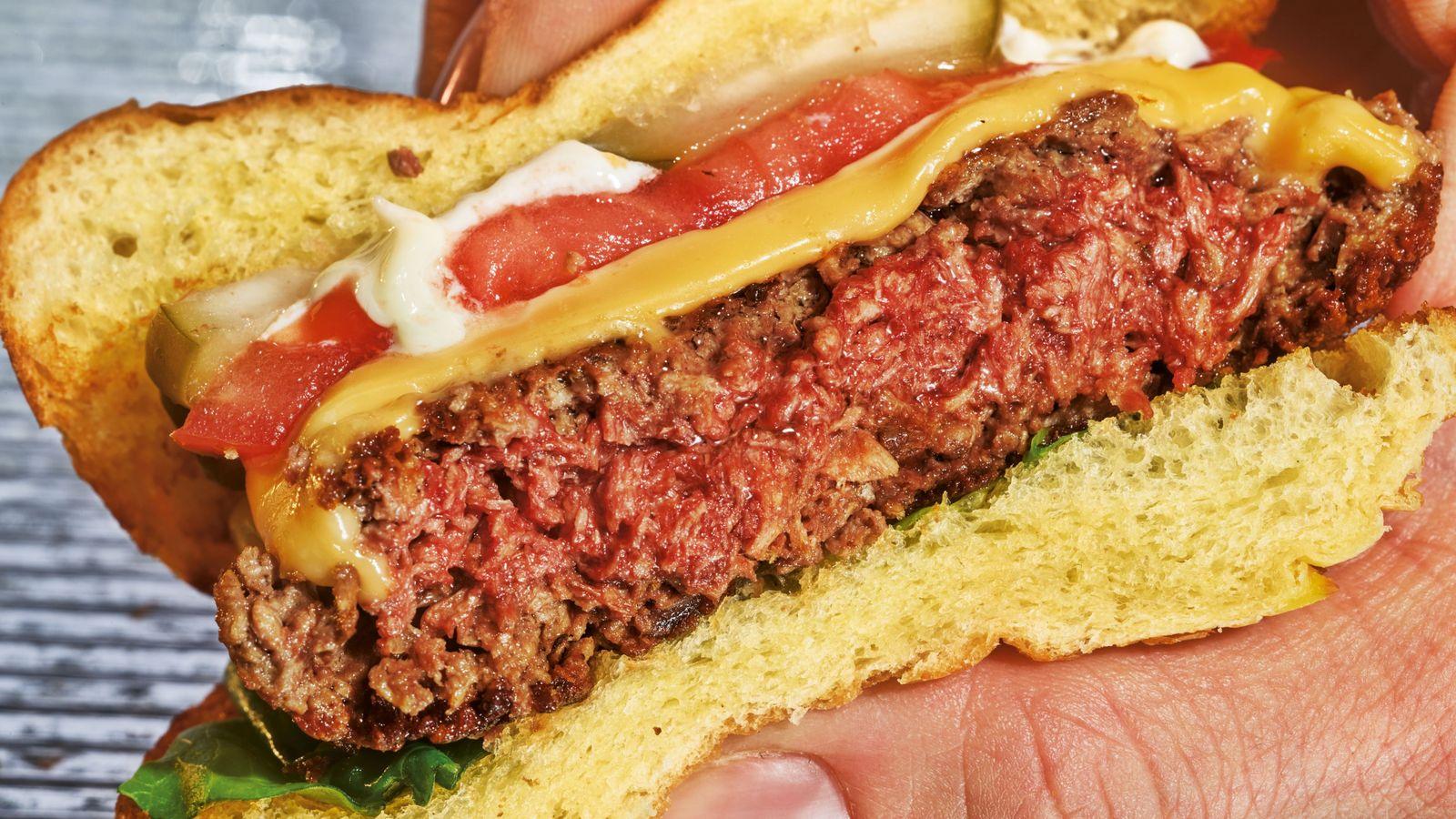L'Impossible Burger est notamment fabriqué avec des protéines de blé et de pomme de terre, de ...