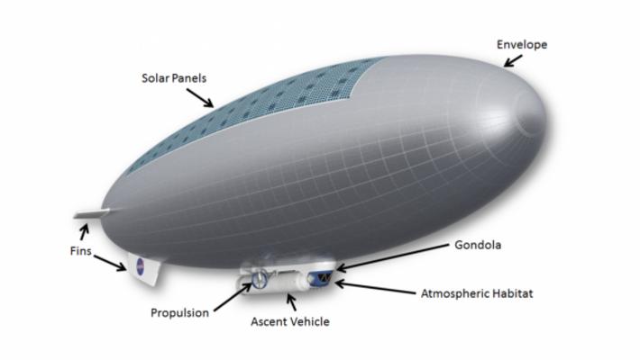 Concept de vaisseau pour la mission HAVOC de la NASA.