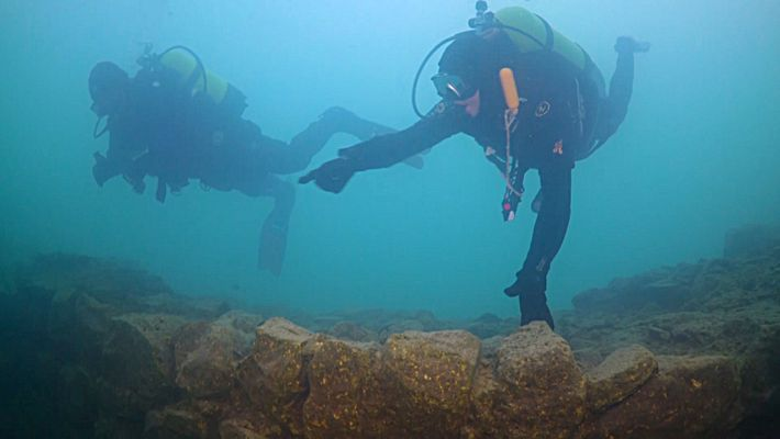 Découverte d'une forteresse subaquatique en Turquie