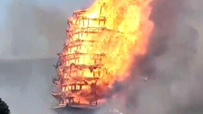 La plus grande pagode d'Asie détruite par un incendie