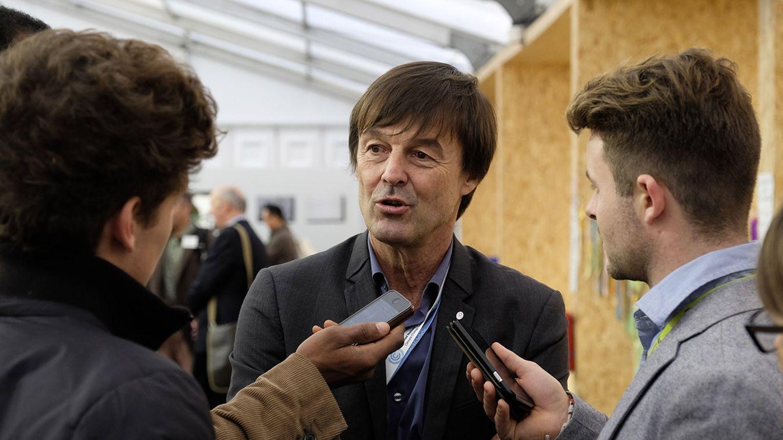 Nicolas Hulot, ministre français de la Transition écologique, dans les espaces Générations climat.