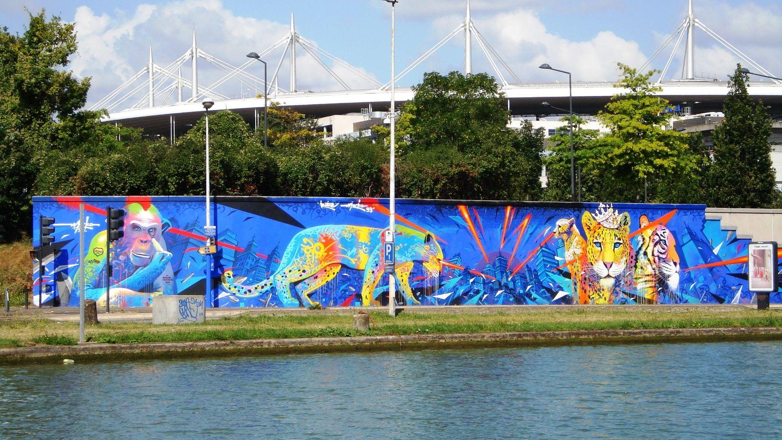 La fresque « Félins », de l'artiste Marko 93, le long de la « Street art ...