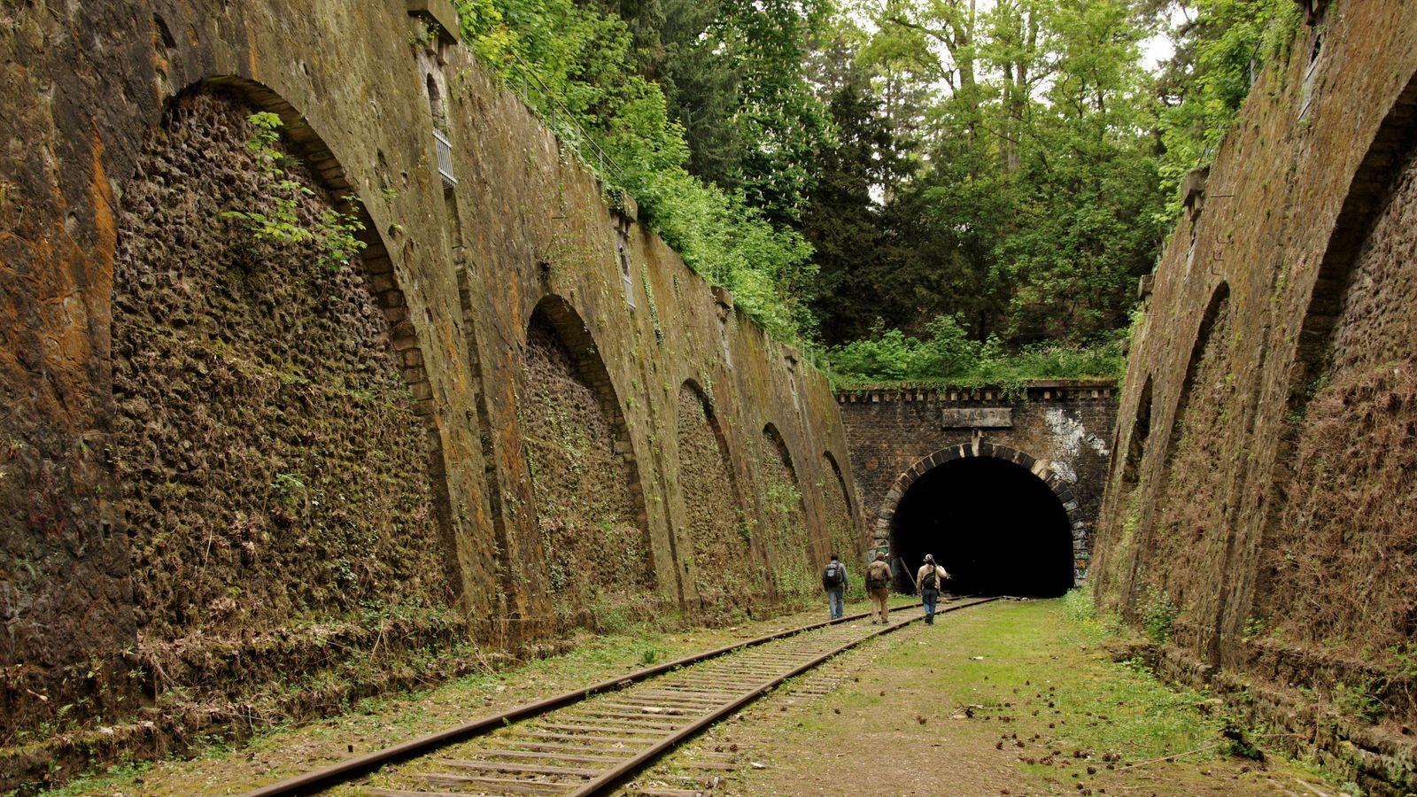 La Petite Ceinture était un chemin de fer parisien qui, à partir de 1852, constituait une ...