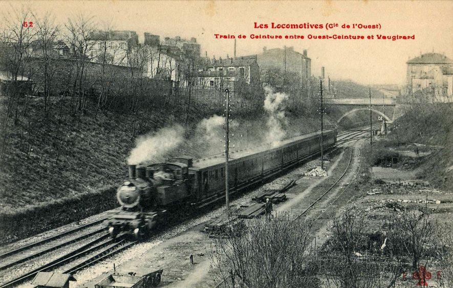 Train sur la Petite Ceinture (avant 1914)