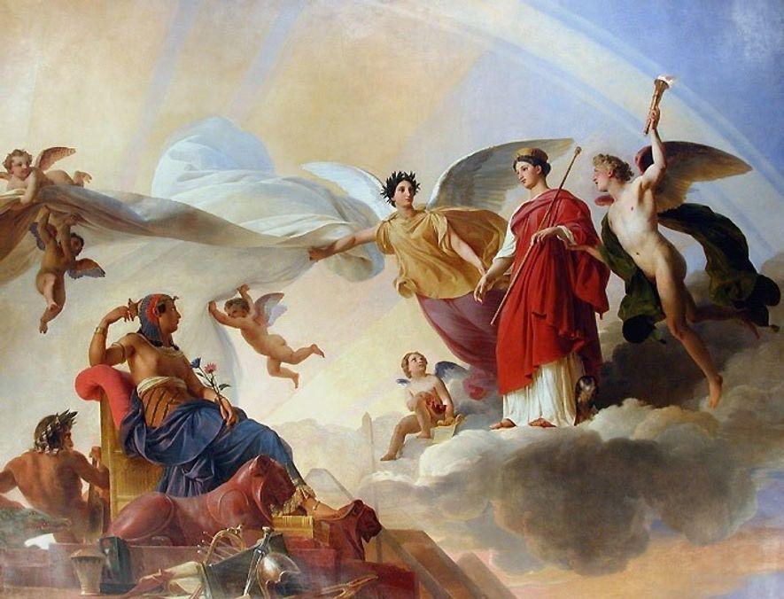 """""""L'Étude et le Génie dévoilent l'antique Égypte à la Grèce"""", tel est le titre de cette ..."""