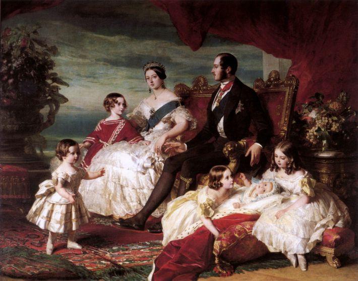 Portrait de la reine Victoria, du prince Albert et de leurs enfants réalisé par Franz Xaver ...
