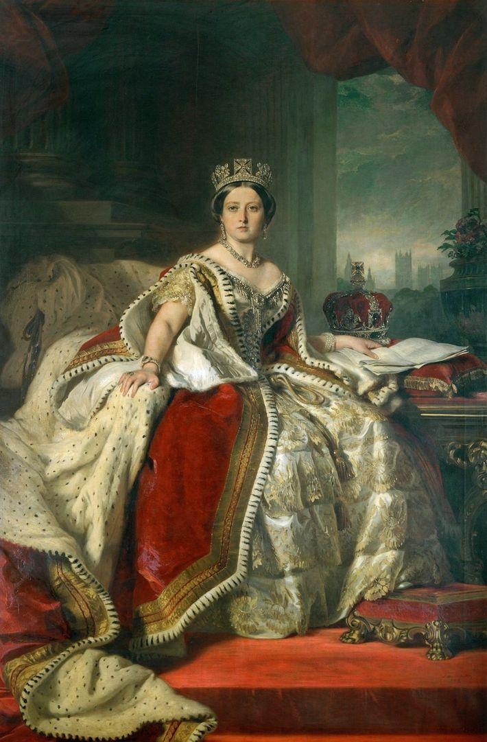 Portrait de la reine Victoria réalisé par Franz Xaver Winterhalter en1819-1901.