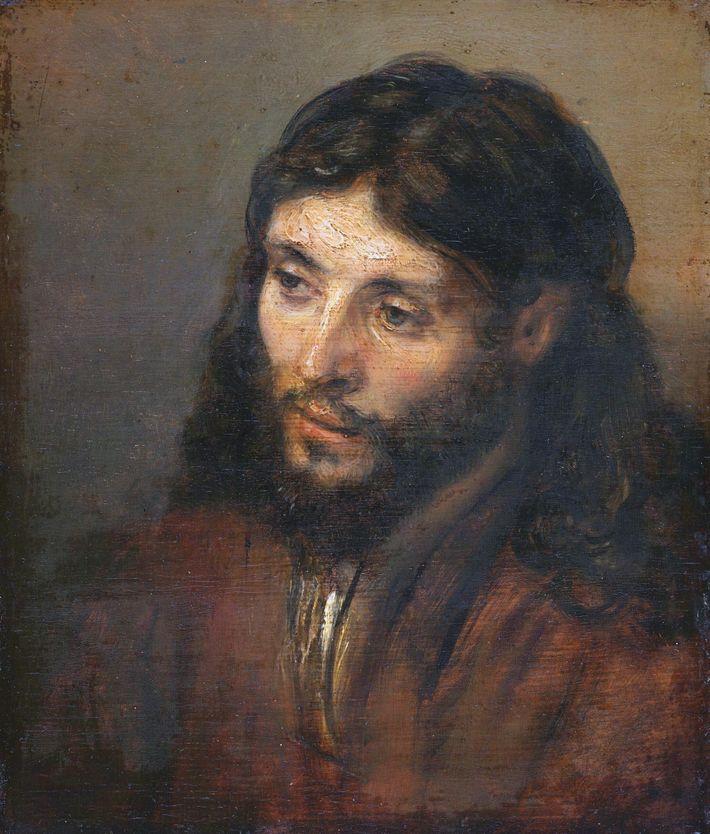 Tête du Christ (1648). Rembrandt aimait à peindre Jésus en homme ordinaire. Au sommet de son ...