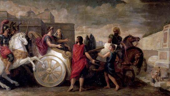 Nabuchodonosor et Semiramis faisant élever les jardins de Babylone pour plaire à son épouse Amytis - ...