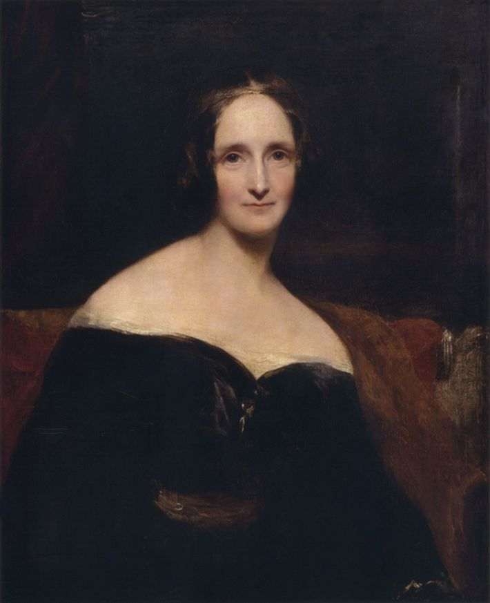 Portrait de Mary Shelley par Richard Rothwell (1840).