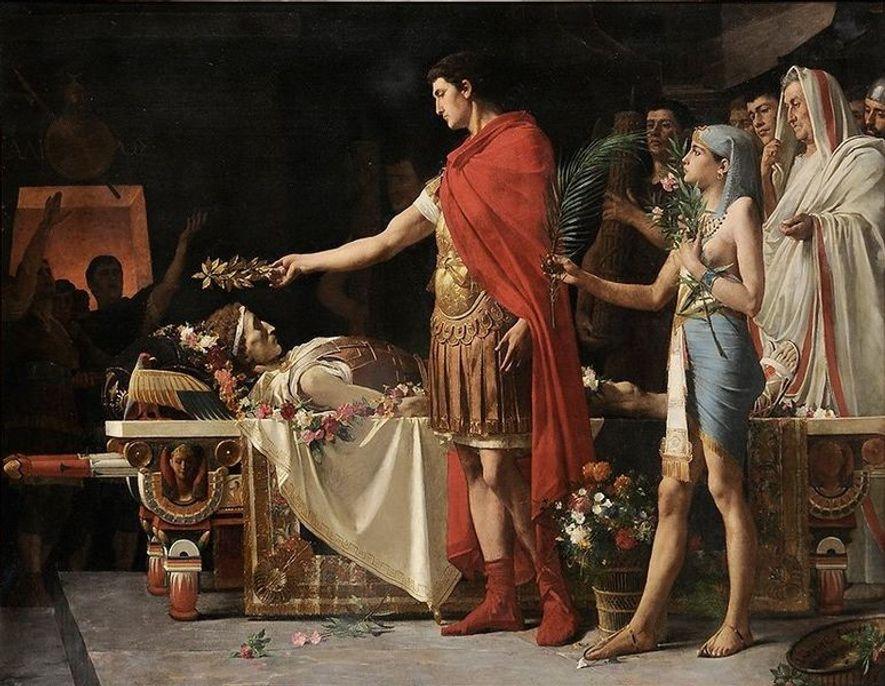 Lionel Royer, Auguste au tombeau d'Alexandre, 1878, collection particulière