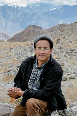 Portrait de Sonam Wangchuk.