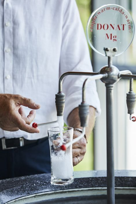 La célèbre eau Donat Mg riche en magnésium du centre médical Rogaška.