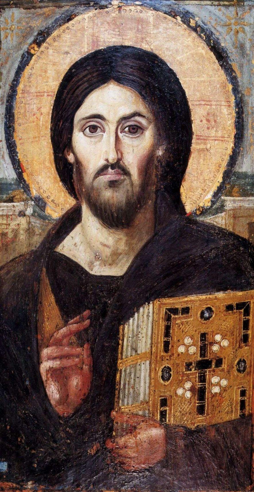 L'Icône du monastère de Sainte-Catherine du Sinaï (Égypte) est l'une des premières icônes byzantines (VIe siècle) ...