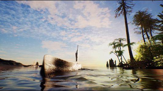 Le Spinosaurus en train de nager