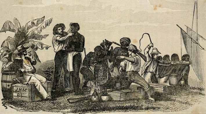 """Image extraite de """"L'histoire de l'esclavage et de la traite des esclaves, ancienne et moderne - ..."""