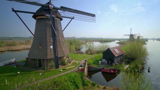 Les icôniques moulins à vent des Pays-Bas