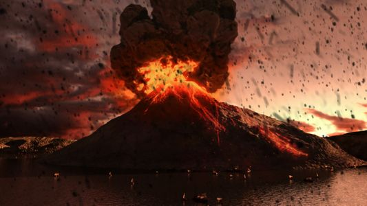 Was a vulcano that destroyed Atlantis