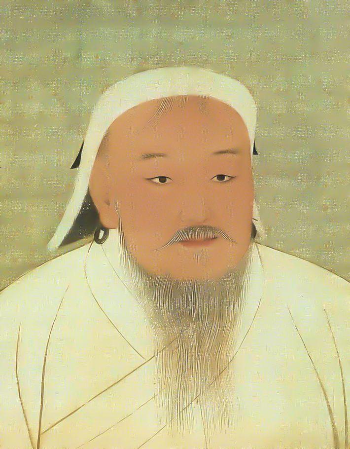 Portrait de Gengis Khan - Musée du Palais. Pékin