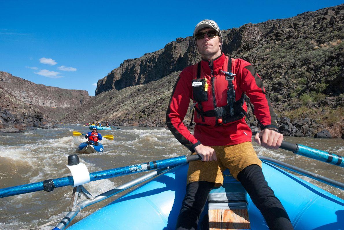 Raft Along the Owyhee River
