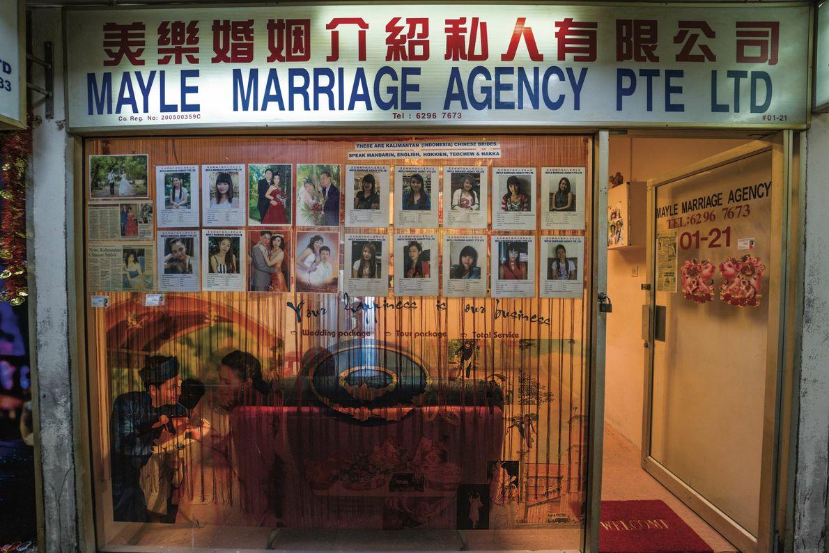 L'agence matrimoniale Mayle est l'une des rares qui subsistent à Singapour. Les autorités ont pris des ...