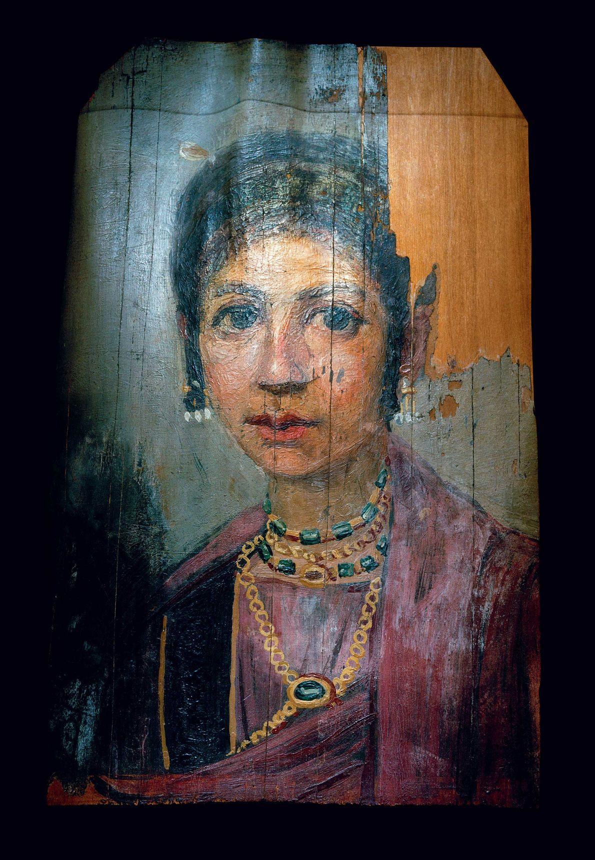 Les portraits du Fayoum offrent un bel aperçu des bijoux, accessoires et coiffures de l'époque. La ...