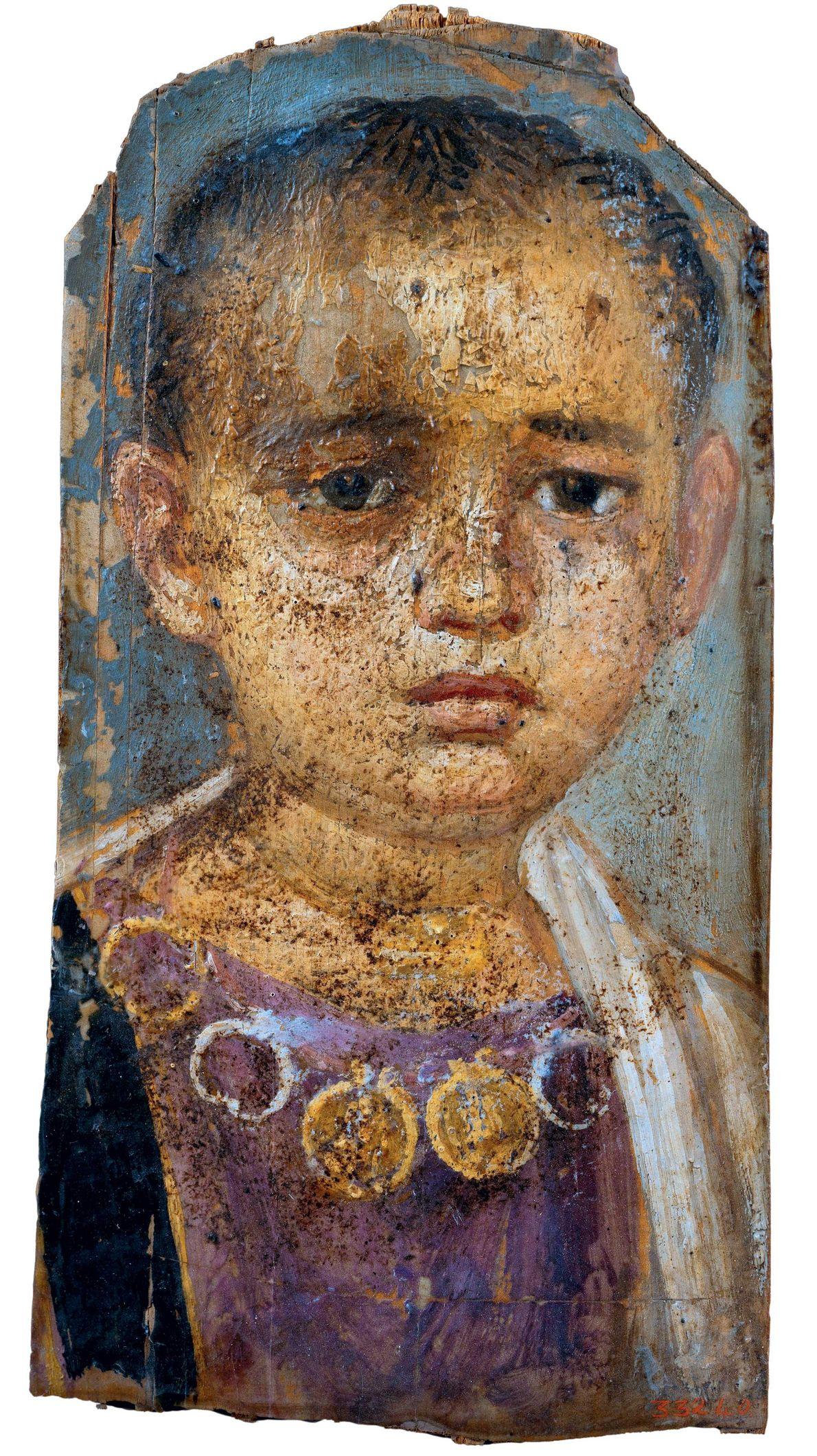 De nombreux enfants sont représentés dans les portraits du Fayoum. Dans l'Égypte de l'Empire romain, les ...