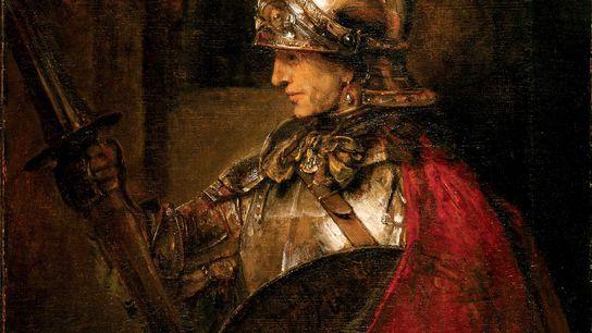 Ce portrait réalisé en 1655 par Rembrandt et intitulé « Homme en armure » représenterait Alexandre ...