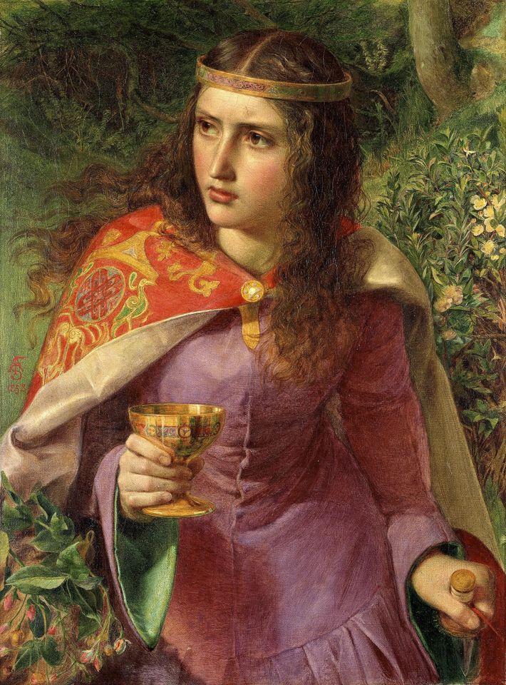 Aliénor d'Aquitaine par Frederick Sandys, 1858, musée national de Cardiff.