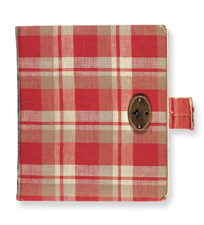 Le premier journal d'Anne Frank était à carreaux rouges, elle le garda du 12 juin au ...