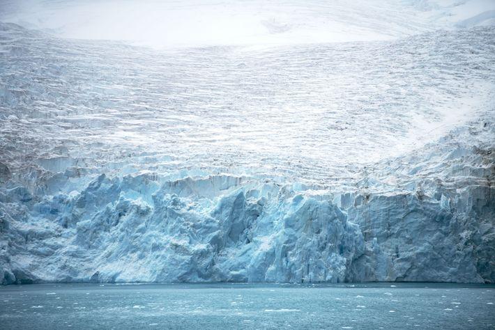 Le glacier Risting, long de8km, occupe le fond dufjord Drygalski, en Géorgie du Sud. Il a ...
