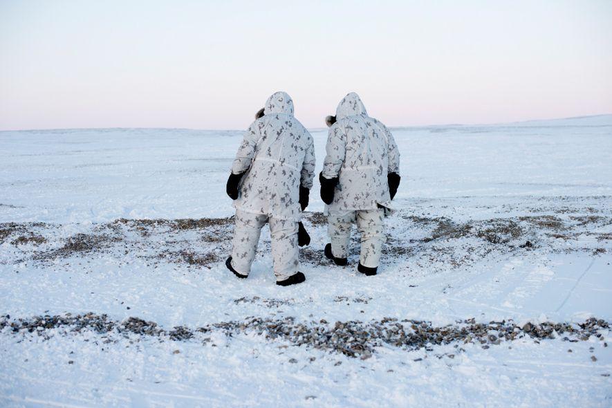 La règle d'or des opérations militaires menées en Arctique est « keep moving », que l'on ...