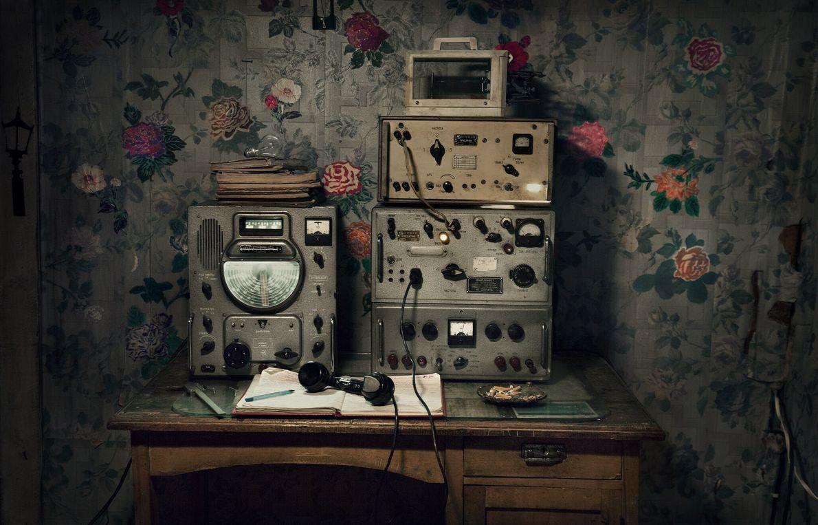 Cette radio de l'ancienne station météo permettait de transmettre des données comme la température et les ...