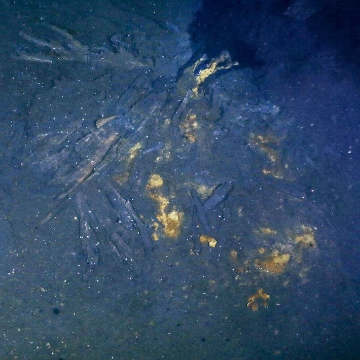 Sur le site d'Aurora, une cheminée haute de 90 cm souffle une fumée noire (coin supérieur ...