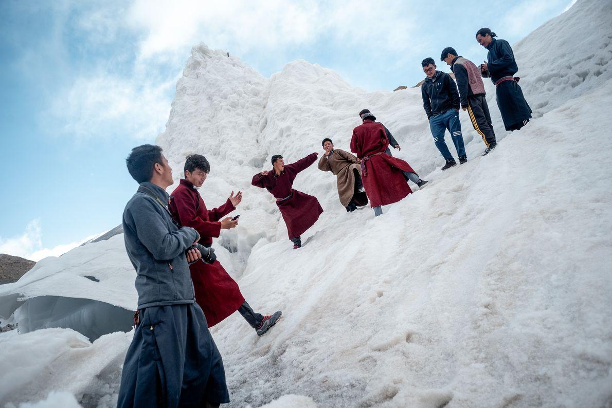 Sonam Wangchuk, inventeur des stupas de glace, a créé une école alternative près de Leh, une ...