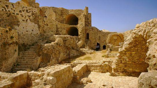 Ruines de la forteresse nizârite de Masyaf, en Syrie.