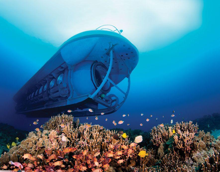 Dans l'État d'Hawaï, à Kona, un sous-marin, l'Atlantis Submarine, a été conçu pour profiter au maximum ...