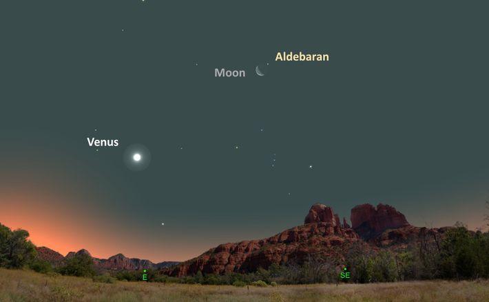 Le 16 août, la Lune sera très proche de l'étoile orange Aldébaran.