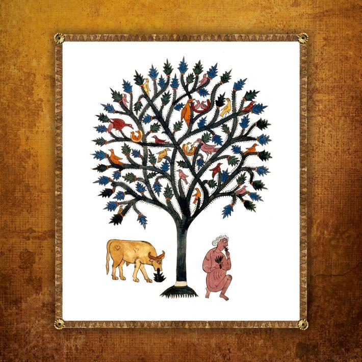 Cette miniature du 8e siècle, réalisée par le moine espagnol Beatus de Liébana, représente l'histoire biblique ...