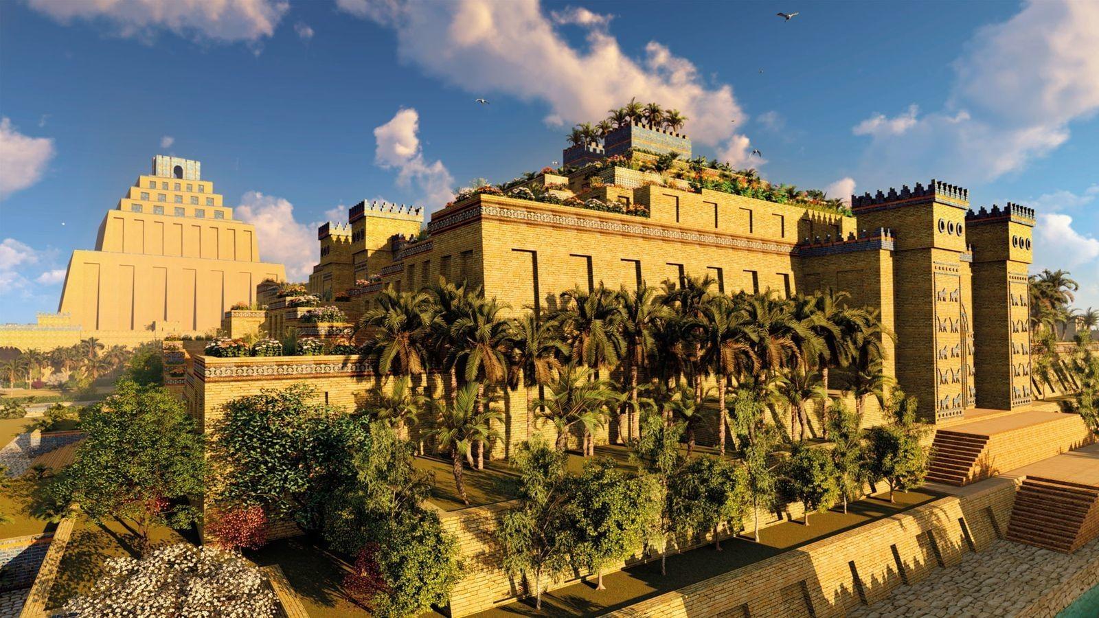 Les jardins suspendus de Babylone, la plus mystérieuse des sept merveilles du monde
