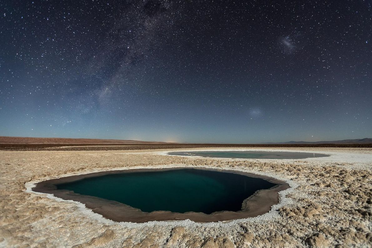 Photo prise lors d'une expédition photographique dans le Désert d'Atacama, au Chili, en avril 2016. Ce ...