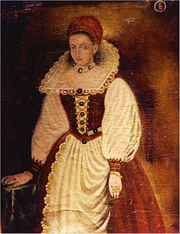 Portrait supposé d'Élisabeth Báthory comtesse hongroise de la famille princière des Báthory. Après la mort de son mari, elle et quatre complices supposés ...
