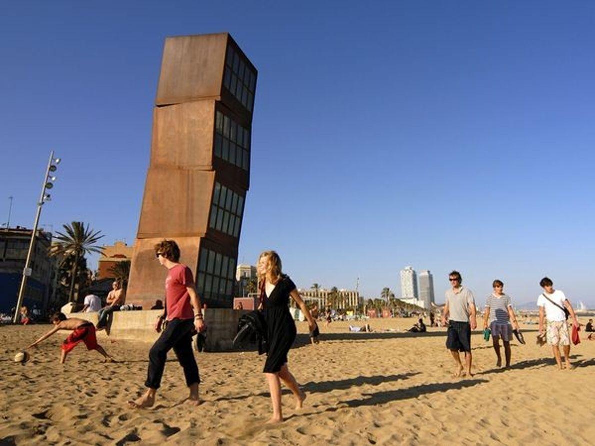 Sculpture sur la plage