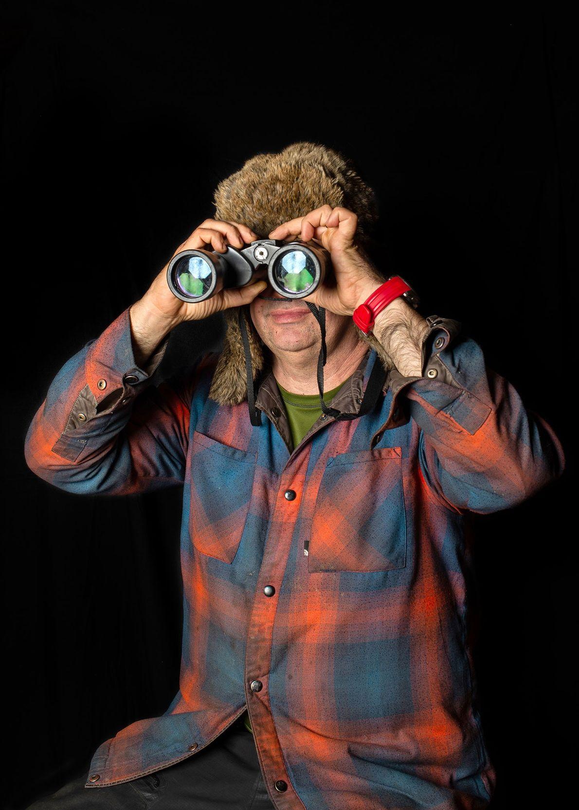 Andres Pedro Osmolski, alias « El Gaucho », organise des séances d'observation des castors sur les ...