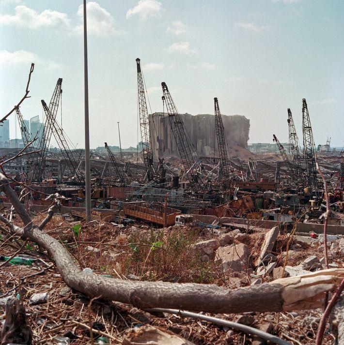 Le principal silo à grains du Liban, situé au cœur du port de Beyrouth, a été détruit. Sa capacité ...