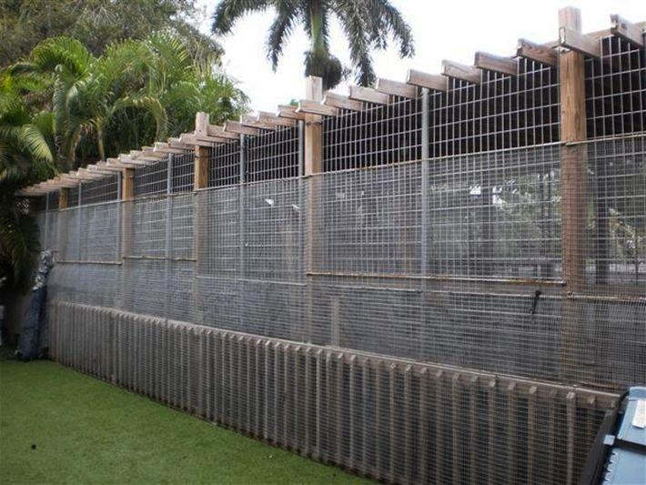 La panthère noire de Michael Poggi vit dans cette cage installée à l'arrière de sa maison ...