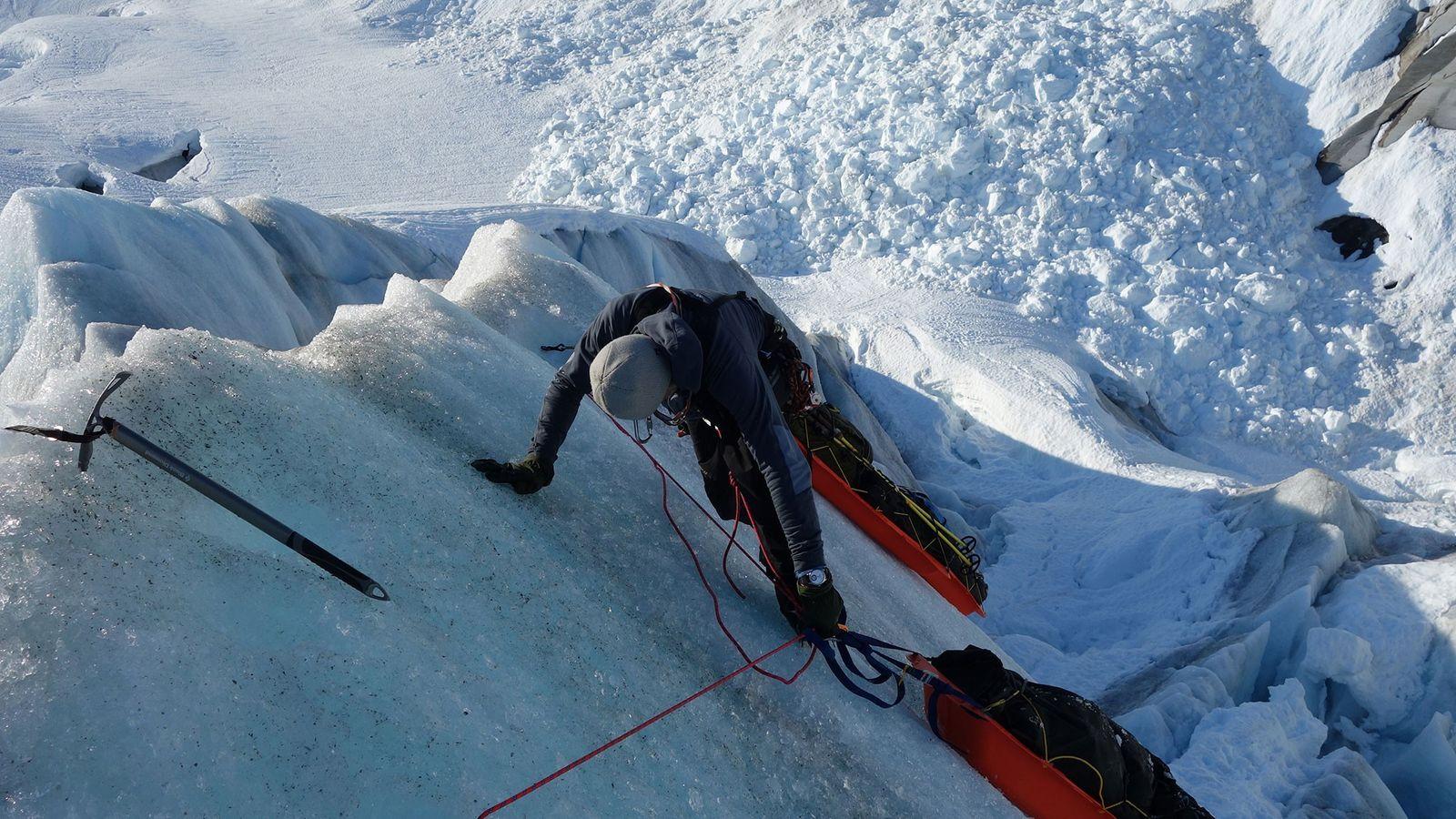 L'explorateur polaire Børge Ousland parcourt actuellement les 20 plus grands glaciers du monde pour documenter les ...