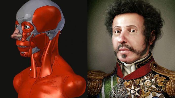 Découvrez comment un artiste est parvenu à reconstruire le visage du premier empereur brésilien
