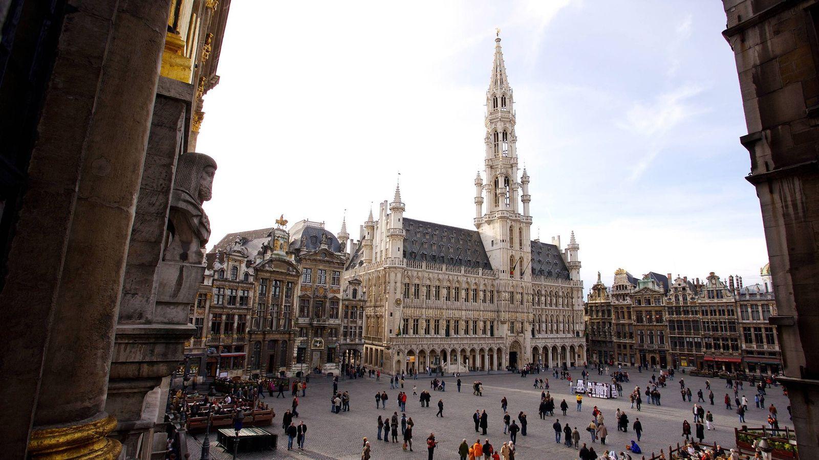 Bruxelles, en Belgique. La capitale belge s'articule autour de la place centrale, ou Grand-Place, bordée par ...