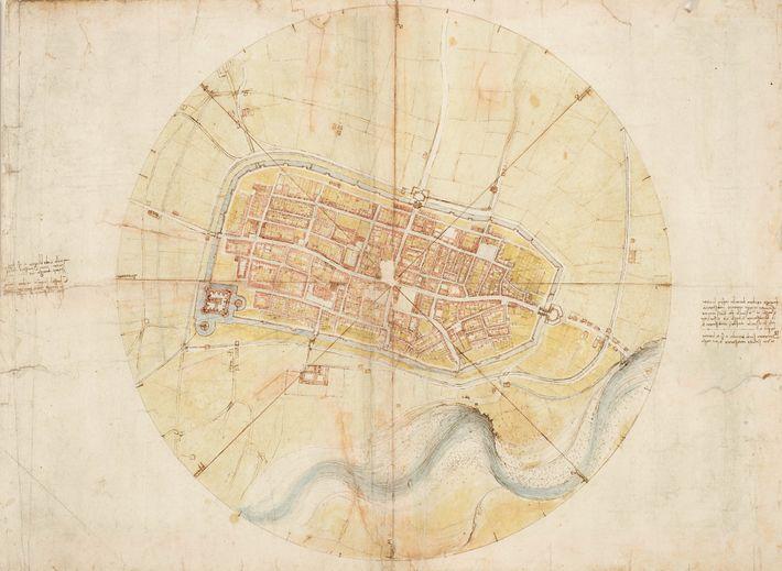 Alors qu'il était au service de Cesare Borgia, chef des armées pontificales, Léonard de Vinci parcourait ...